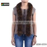 Fashion Ladies Alpaca Fur Vest, Stylish Ladies Alpace Fur Waistcoat