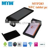 7inch NFC Dual core Tablet pc RFID tablet pc Android4.4 Support POS read card industrial grade tablet pc