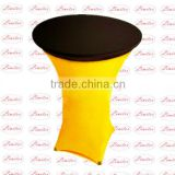 Round polyester lycra spandex fitted table cloth table topper for banquet and wedding event