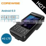Android mobile phone biometric fingerprint pos qr code machine with smart card reader