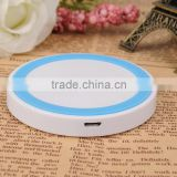 Round shape QI wireless charger without USB port for smartphones battery charging