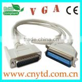 hot selling 25Pin to 18Pin durable VGA cable with beige color
