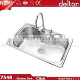 Guangdong kitchen bowl single kichen sink factory 304 oval shape stainless steel kitchen sink