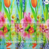 3D realistic digital print blackout fabric for window curtain, 100% polyester blackout fabric, ready curtain, flame retardant