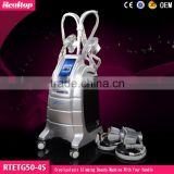 Local Fat Removal 4 Cryo Handles Fat Freeze Machine / Fat Melting Cryolipolysis Cryo Machine / Cryo Slimming Machine For Salon Use