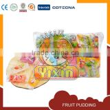 fruit pudding piece in pouch