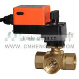 DQF-FB Brass Motorized Ball Valve with 5 Nm Actuator/3 Way Electric Ball Valve/Water Ball Valve/Zone Valve DN25,DN32