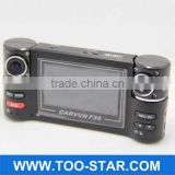 True Dual 720P Double lens Driving recorder H.264 HD Car DVR Camcorder F20 1280*720 G-Sensor Camera