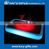rechargeable battery operated led bar tray light fruit plate