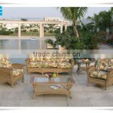 Outdoor Rattan Patio Garden 5-Seater Sofa Set Furniture