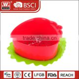 Wholesale Multi-Purpose silicone Strainer Basket Collapsible Folding Silicone Plastic Colander With Handle and plate