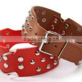 High Quality Dog Products Alloy Rivets Spiked Pet Collar Strong Tough Dog Collars Fashion Pu Leather Dog Collar