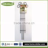 hot sell decorative welded portable fence black inserted used wrought iron door gates designs for garden