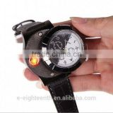 New Men's Watch USB Electronic Battery Flameless Cigarette Lighter Wrist Watch