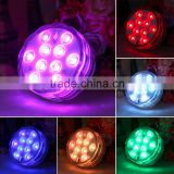 1Pc Remote Control RGB 10LED Multi-function Underwater Light For Diving/fish lamp