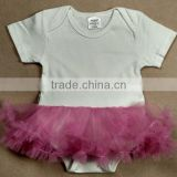 Sublimation blank baby romper tutu skirt 100% polyester for sublimation print. no minimum quantity.