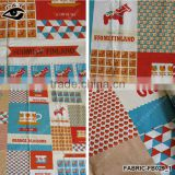 1.40 m Fresh Style Horse Check Cup Pattern Canvas Fabric Linen/Cotton Fabric Zakka Patchwork Fabric