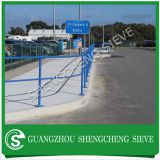 Wholesale powder coated yellow color ball rail stanchions Guangzhou