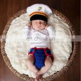 Cute Navy Baby Boy/Girl Photo Props Crochet Knit Costume Wholesale