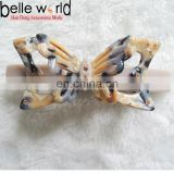 Fashion women hollow butterfly acetate hair barrette clip
