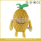 EN71 cetificates soft plush pineapple toy