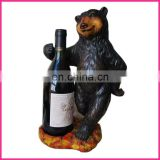2012 novelty design polyresin wine holder with fanimal shape