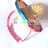 carnival party mini straw headband supplies mexico mini straw headband