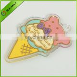 2013 most hottest acrylic ice cream shape glitter keychain