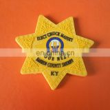 customized yellow color srat shaped enbossed logo rubber drink coaster cup mat