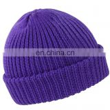 high quality custom design acrylic knitted beanie