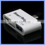 USB-C Card Reader 3 in 1 Type C USB 3.1 5 Gbps TF SD Card Reader Type-C with USB 3.0 Port/TF/SD Smart Adapter for MacBook