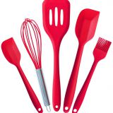 Free Sample Food Grade Nontoxic Silicone Kitchen Utensil Cooking Tool  Set of 5pieces