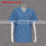 Custom made all color scrub tops with pocket