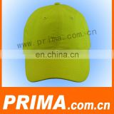 Custom design bright color cotton 6 panels promotional baseball caps and hats with 6 embroidery eyelets