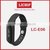 text message/Tracking motion/music play/Fine phon/sleeping monitor/Touch screen E06 Smart Bracelet