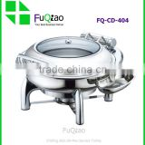 Hot Sale Restaurant & Hotel Supplies Stainless Steel Induction Chafing Dish With Glass Lid