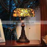 Tiffany style dragonfly table lamp wholesale led light night reading glass table lamp bank lamp