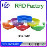 RFID bracelet rfid reader pulsera silicone bands rfid wristband logo and character printing