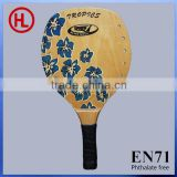 2015 new arrival Hot sale square poplar wooden beach tennis racket /beach paddle rackets with holes set wholesale
