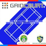 outdoor badminton surface flooring