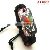 Korea Version Bracelet,Colored leather bracelet, Genuine leather macrame with butterfly AL0035