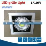 Factory price high power recessed ceiling grille led 10W, downlight led cob grille light 10 watts