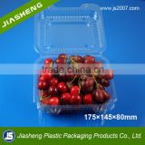 PET Rectangular Shape Plastic Disposable Fresh Fruit Packaging Punnets for Grape or Cherry