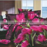 Trade Assurance Fashion Flower Fabric Painting 3D Top Quality organic 100% Cotton reactive printed Bed Sheets/Bed cover/Bed set