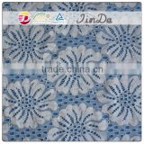 Embroidery pretty big flower lace for lady garment