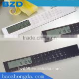 Promotional for Student/ Office/ Housework Pratical Functional Electric LCD Ruler with Calculator/ Clock/ Alarm