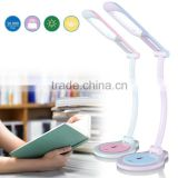 Rechargeable LED foldable table lamp portable and cute design for kids study with eye protection light