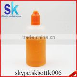 PE 100ml plastic dropper bottle with childproof cap