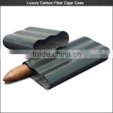 Luxury colorful carbon fiber cigar case for high-end market , carbon cigar box hold 2/3 cigars