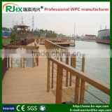 WPC outdoor flooring board in construction fencing and railing/wood plastic composite decking fence for sale